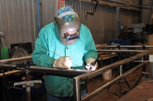 Welding in the Fabrication Shop