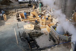 Structural Foundation Forms being constructed